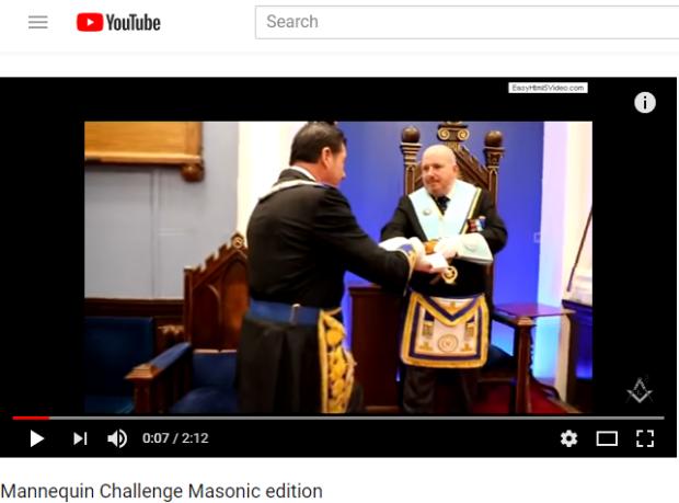 Masonic mannequin challenge